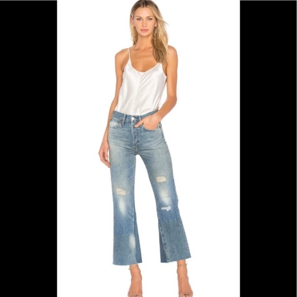 Re/Done Denim - Re/Done Leandra High waisted jeans crop flare